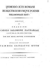 Quomodo iureconsulti Romani de delictis eorumque poenis. philosophati sint?