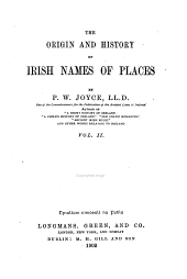 The Origin and History of Irish Names of Places: Volume 2