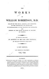 The Works of William Robertson ...: History of America