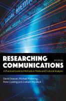 Researching Communications PDF