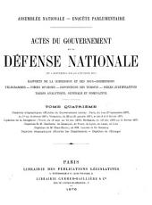 Actes du Gouvernement de la défense nationale. (Assemblée nat.).