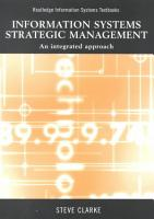 Information Systems Strategic Management PDF