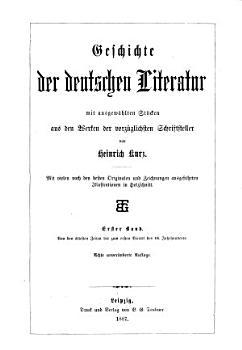 Geschichte der deutschen Literatur  Von den   ltesten Zeiten bis zum ersten Viertel des 16  Jahrhunderts PDF