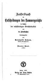 Jahrbuch für Entscheidungen des Kammergerichts in Sachen der nichtstreitigen Gerichtsbarkeit und in Strafsachen: Band 9
