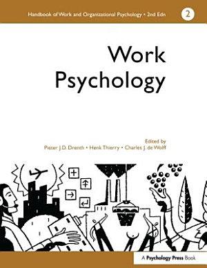 Handbook of Work and Organizational Psychology  Work psychology PDF