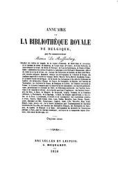 Annuaire de la Bibliothèque royal de Belgique: Volumes11à12