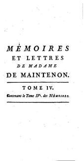 Mémoires pour servir a l'histoire de Madame de Maintenon, et à celle du siecle passé