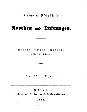 Heinrich Zschokke s Novellen und Dichtungen PDF
