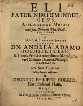Eli pater nimium indulgens, applicatione mor. ad J. Thomasii Philos. Pract. Tab. 36. delineatus