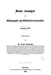 Neuer Anzeiger für Bibliographie und Bibliothekwissenschaft: Band 12