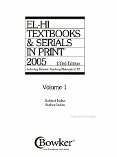 El Hi Textbooks   Serials in Print  2005 PDF