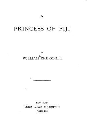 A Princess of Fiji PDF