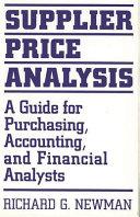 Supplier Price Analysis