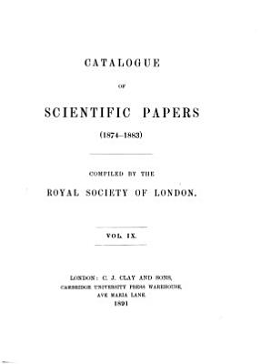 Catalogue of Scientific Papers  1800 1900 PDF