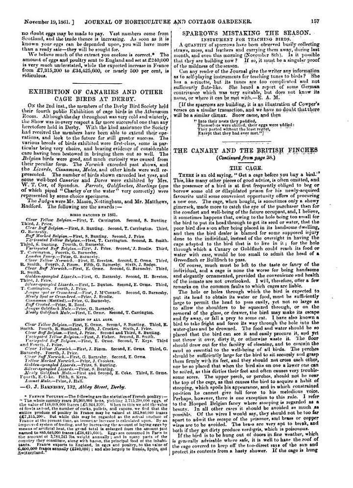 THE JOURNAL OF HORTICULTURE, COTTAGE GARDENER, AND COUNTRY GENTLEMAN. A JOURNAL OR HORTICULTURE, RURAL AND DOMESTIC ECONOMY, BOTANY AND NATURAL HISTORY.