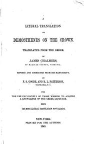 A Literal Translation of Demosthenes on the Crown