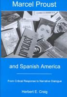Marcel Proust and Spanish America PDF