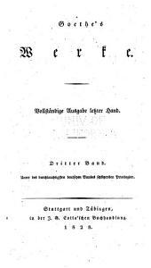 Goethe's werke: Band 3