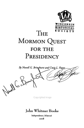 The Mormon Quest for the Presidency PDF