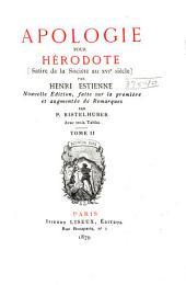 Apologie pour Hérodote: satire de la société au XVIe siècle, Volume2