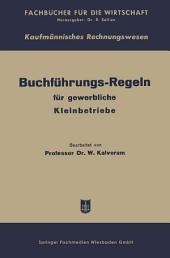 Buchführungs-Regeln für gewerbliche Kleinbetriebe: Ausgabe 2