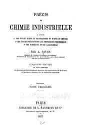 Précis de chimie industrielle: Chimie organique