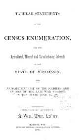 Tabular Statements of the Census Enumeration, and the Agricultural, Mineral and Manufacturing Interests of the State ...: Also Alphabetical List of the Soldiers and Sailors of the Late War Residing in the State June 20, 1885
