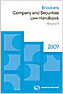 Brookers Company and Securities Law Handbook 2009 PDF
