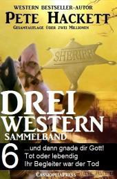 Pete Hackett - Drei Western, Sammelband 6: ...und dann gnade dir Gott/ Tot oder lebendig/ Ihr Begleiter war der Tod