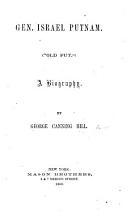 Gen  Israel Putnam     A biography PDF