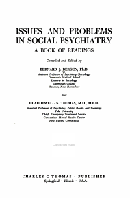 Issues and Problems in Social Psychiatry PDF