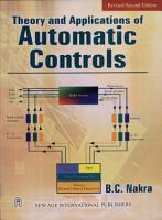 Theory and Applications of Automatic Controls PDF