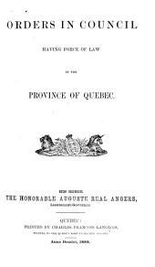 Statut de la province de Quebéc: Statute of the Province of Quebec, Issues 51-52