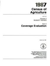 1987 census of agriculture: Subject series, Part 2