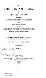 A Tour in America in 1798,1799, and 1800