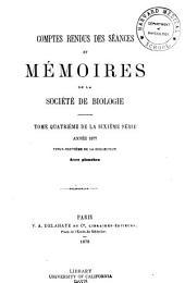 Comptes rendus hebdomadaires des séances et mémoires de la Société de biologie: Volume29
