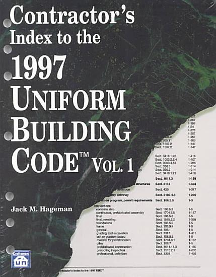 Contractor s Index to the 1997 Uniform Building Code PDF
