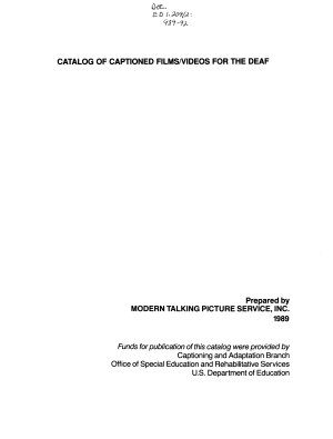 Catalog of Captioned Films videos for the Deaf PDF