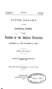 Report - Daughters of the American Revolution: Volume 5