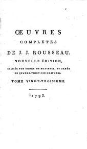 Œuvres completes de J.J. Rousseau: Confessions