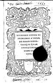 Vitruuius iterum et Frontinus a Iocundo reuisi repurgatique quantum ex collatione licuit