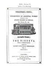 The Nirukta: with commentaries, Volume 1