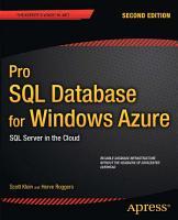 Pro SQL Database for Windows Azure PDF