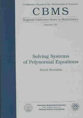 Solving Systems of Polynomial Equations: Issue 97
