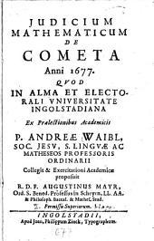 De cometa anni 1677
