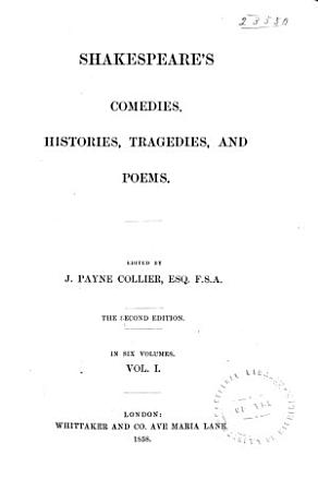 Shakespeare s Comedies  Histories  Tragedies  and Poems PDF