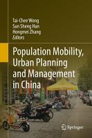 Population Mobility  Urban Planning and Management in China PDF