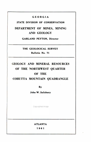 Geology and Ground-water Resources of the Macon Area, Georgia