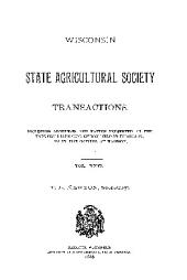 Transactions of the Wisconsin State Agricultural Society: Volume 26