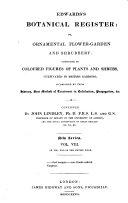 Edwards's Botanical Register, Or, Ornamental Flower-garden and Shrubbery
